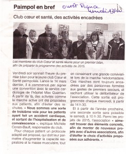 Article Ouest France du 14 10 2014