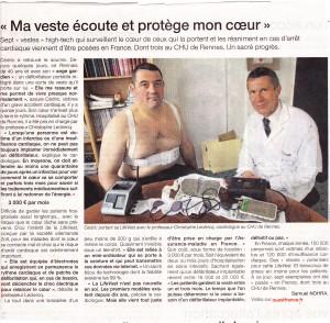 Article Ouest France du mardi 2 juin 2015