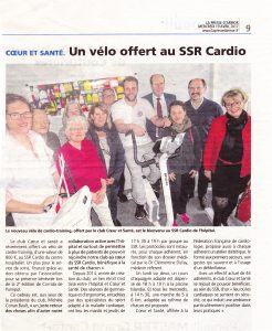 Article don du vélo au SSR Cardio 19 avril 2017